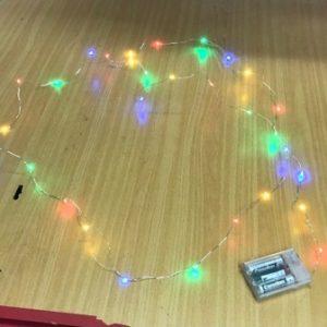 שרשרת לד, אורות דק כ3 מטר סוללות
