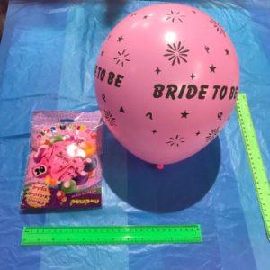 קישוטים למסיבת רווקות, בלון bride to be