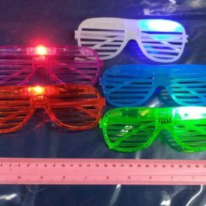 משקפי אורות תריס מהבהבות | אביזרים למסיבות | משקפיים למסיבות