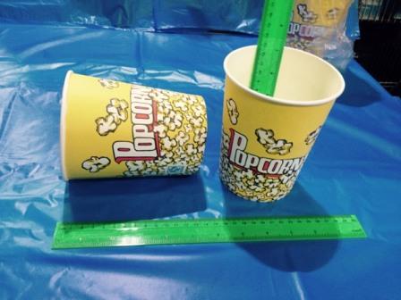 כוסות פופקורן בסיטונאות | גודל 1 ליטר מקרטון איכותי במיוחד