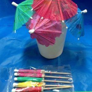 מטריות לקוקטיילים מארז 5 יחידות | אביזרים למסיבות