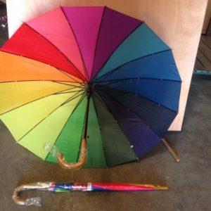 מטרייה צבעונית | מטרייה ענקית 16 שיחים | מטרייה 24 אינצ' חזקה