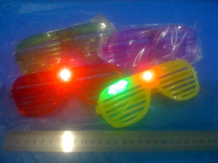 משקפי אורות תריס מהבהבות | אביזרים למסיבות