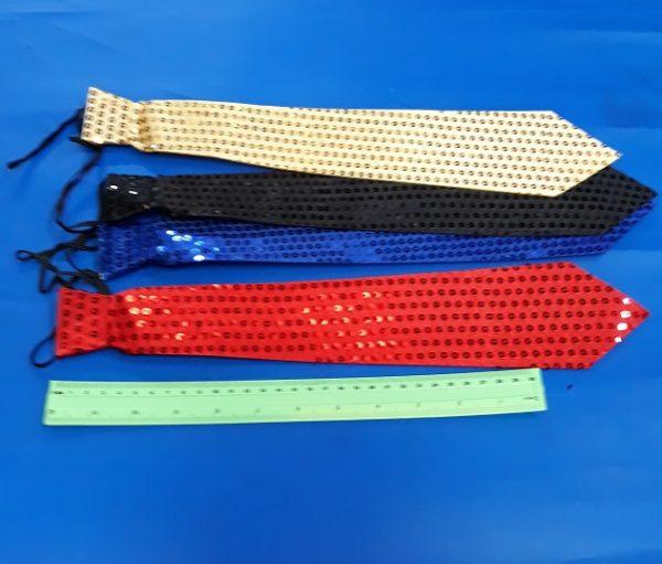 עניבה למסיבות מבד ופייטים | עניבה מעוצבת | אביזרים למסיבות