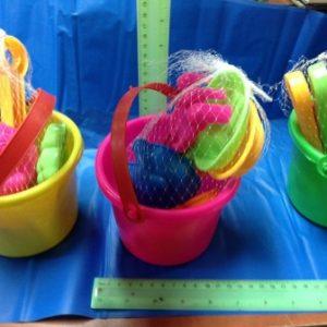 דלי ים בינוני עם 5 כלי ים | דלי לים לילדים