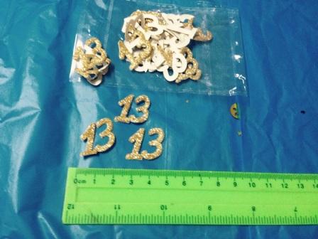 קונפטי 13 נוצץ | 24 יחידות זהב | קונפטי לאירועים