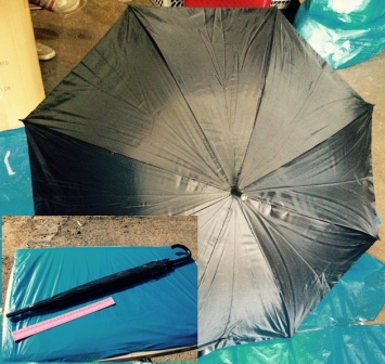 מטריות שחורות   מטרייה שחורה   מטרייה 21 אינצ'