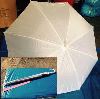 מטריות לבנות   21 אינצ' חזקה   מטרייה לבנה