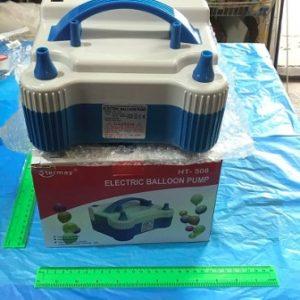 משאבה חשמלית לניפוח בלונים כחולה