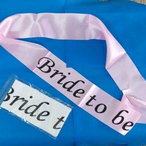 סרט BRIDE TO BE | אביזרים למסיבת רווקות