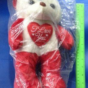 דובי לב אדום לבן | דובי פרווה בסיטונאות