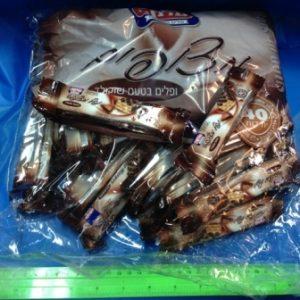 וופלים בטעם שוקולד 30 יחידות | וופל שוקולד פרווה