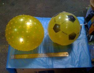 כדור גומי חלק וכדור קוצים גומי | צעצועים בסיטונאות