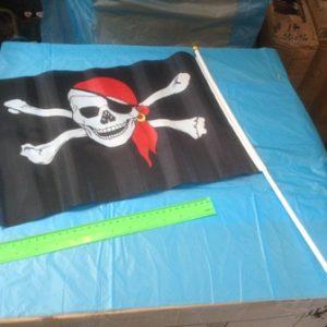 דגל פיראטים על מקל | אביזרים לפורים