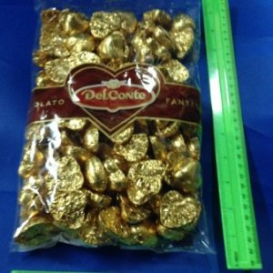 """לבבות שוקולד 1 ק""""ג כ120 יחידות"""