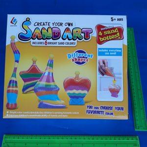 בקבוקים למילוי חול צבעוני | יצירה עם חול | ערכה עם חול ובקבוקים