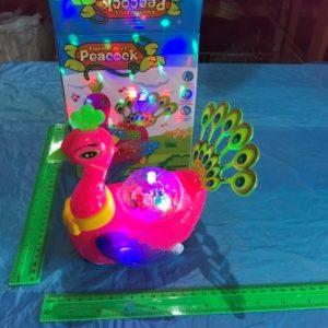 טווס נוסע עם אור ומוזיקה | צעצועים בסיטונאות