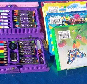 קלמר צבעים 42 חלקים | מזוודת 42 צבעים