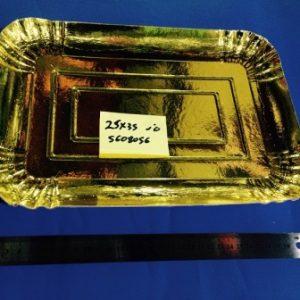 """מגש קרטון זהב בינוני 25/35 ס""""מ"""