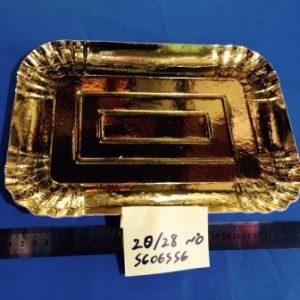 """מגש קרטון זהב גודל 20/28 ס""""מ"""