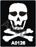 קעקוע סמל פיראטים | קעקועי נצנץ | שבלונה דגם 126