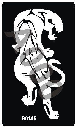 קעקוע נמר   קעקועי נצנץ   גדול דגם 145