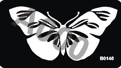 קעקוע פרפר | קעקוע זמני | גדול דגם 146