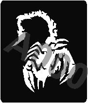 קעקוע עקרב | קעקועי חינה | שבלונה דגם 157