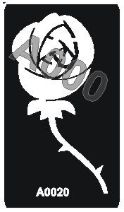 קעקוע ורד | קעקועי חינה | שבלונה דגם 020