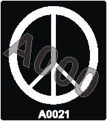קעקוע השלום | קעקוע זמני | שבלונה דגם 021