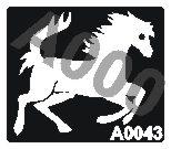קעקוע סוס | קעקועי חינה | שבלונה דגם 043