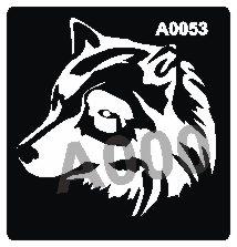 קעקוע זאב | קעקועי חינה | שבלונה דגם 053