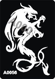 קעקוע דרקון | קעקועי חינה | שבלונה דגם 056