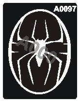 קעקוע עכביש | קעקועי נצנץ | שבלונה דגם 097