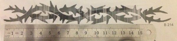 קעקוע צמיד   קעקועי נצנץ   שבלונה גדול דגם 214