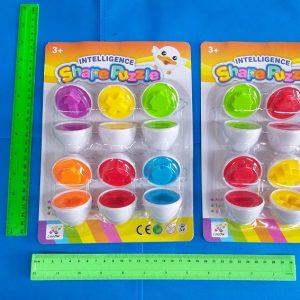 משחק התאמות צבעים וצורות ביצה