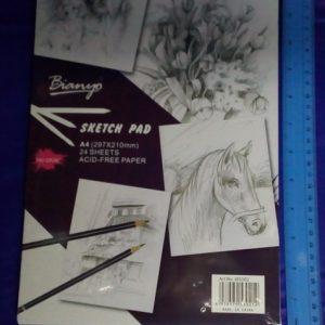 בלוק רישום 24 דפים גודל A4 | בלוק ציור