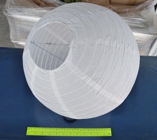 """אהיל נייר אורז   אהיל סיני   אהילים מנייר   פנס נייר 40 ס""""מ"""