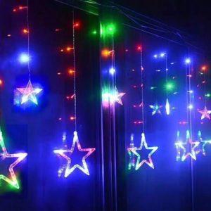 שרשרת לדים מנורות כוכבים 2.5 מטר | קישוטים למסיבות