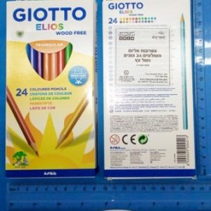 עפרונות צבעוניים 24 יחידות של Giotto