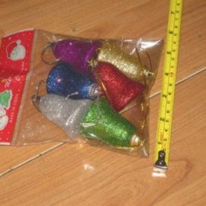 """קישוטי עץ חג המולד, פעמון לתליה, מארז 6 י""""ח"""