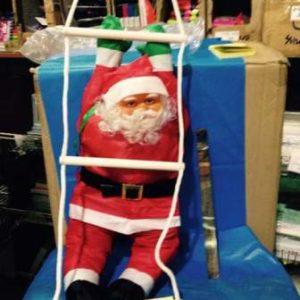 בובה סנטה לקישוט על סולם