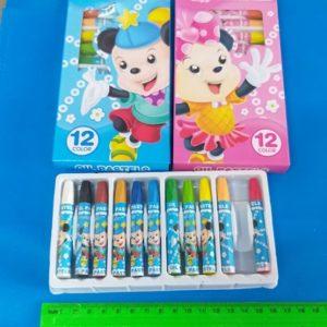 צבעים לילדים 12 יחידות | צבעי פנדה | צבעי פסטל