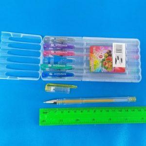עט ג'ל בצבעים | עטים בצבעים | מארז קשיח שישיה