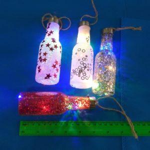 קישוטים לתלייה | בקבוק עם אור | בקבוק אורות
