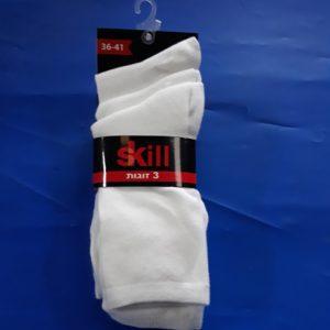 גרביים | ארוך צבע לבן 3 זוגות 36-41