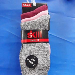 גרביים בנות | ארוך 3 זוגות 36-41