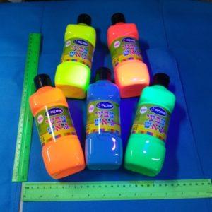 צבע גואש זוהר | צבע גואש לאולטרה 500 גרם | צבעים זוהרים
