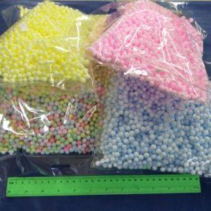 כדורי קלקר גדולים צבעוני כדורי קלקר יצירה 7 ממ