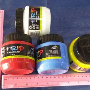 צבעים אקריליים | צבעי אקריליק 220 מל | צבע אקרילי TRIP